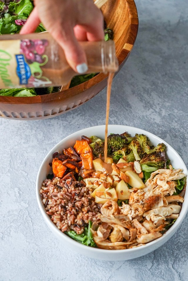 Fall Harvest Salad Bowls with Balsamic Vinaigrette