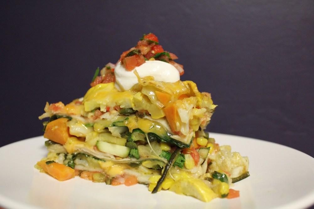 Stacked Roasted Vegetable Enchiladas (3/3)