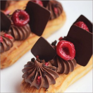 Raspberry and Chocolate Eclairs