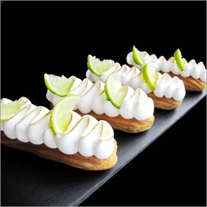 Lime and Meringue Eclairs