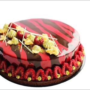 Raspberry And Pistachio Cake- Siempre