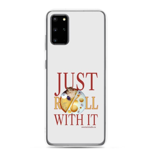 Just Roll With It Gray Samsung Case with Mango Orange Tart