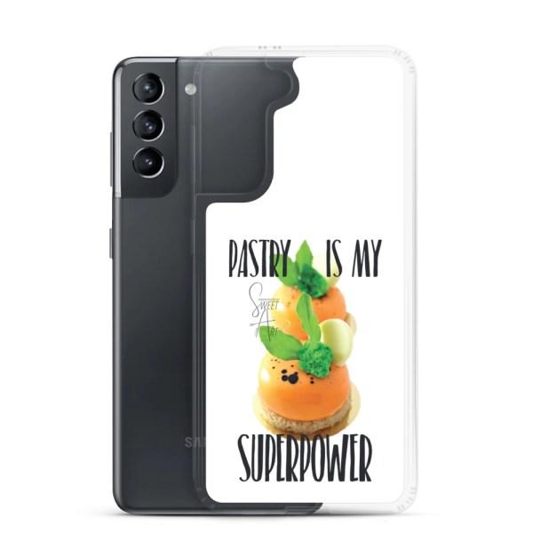 Pastry is my Superpower White Samsung Case with Zanahoria Beta Dessert