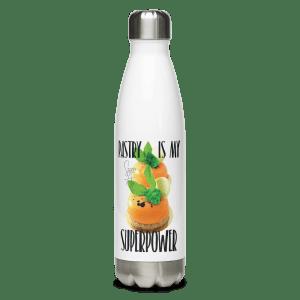 Pastry is my Superpower Stainless Steel Water Bottle with Zanahoria Beta Dessert