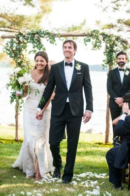 Happy bride & groom - Photo by Melissa Grimes-Guy Photography.