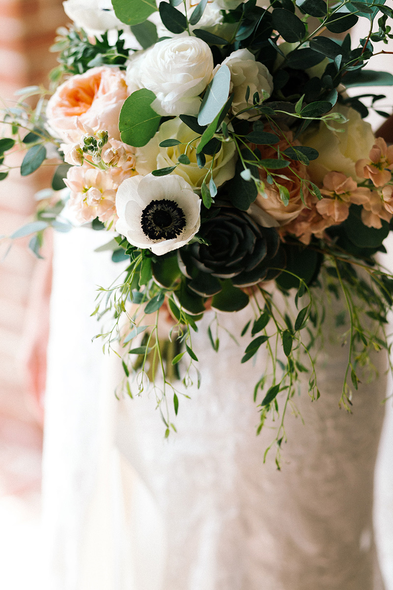 Boho Bridal Bouquet by Sweetbay Flowers | Eastern Shore Florist