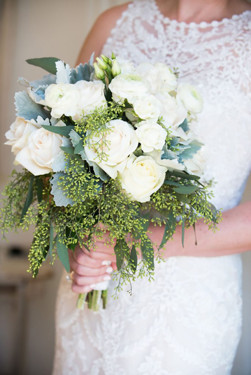 White CLASSIC Bridal Bouquet by Sweetbay Flowers | Eastern Shore Florist