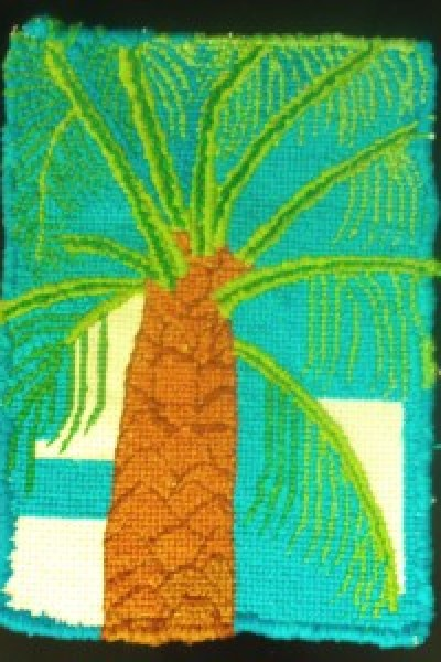 Cross Stitching The Palm Tree