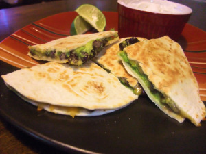Black Bean & Avocado Quesadilla