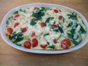 Spinach & Egg White Frittata