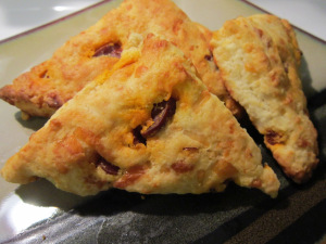 What's Baking: Savory Sausage and Cheese Scones
