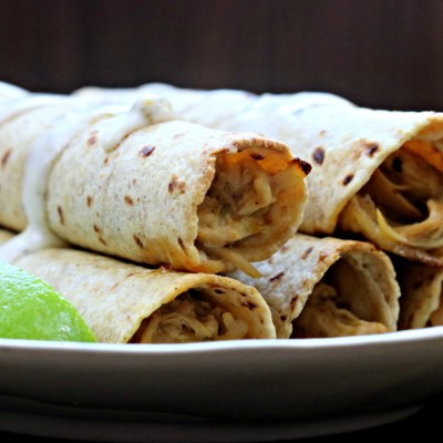 Slow Cooker Creamy Chicken Taquitos