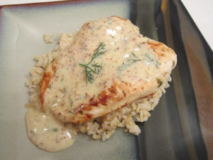 Chicken with Mustard-Dill Sauce