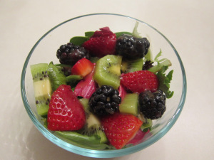 Berry & Kiwi Salad with Sweet Balsamic Dressing