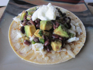 Taco Tuesday: Avocado & Lime Black Bean Tacos