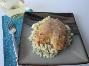 Lemon-Chicken Scallopine with Gremolata Orzo