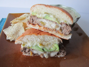 Sammich Saturday: Stuffed Hatch Chile Cheeseburger