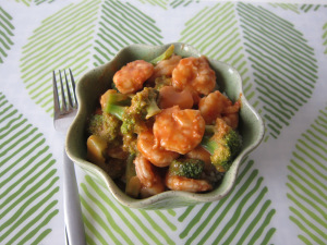 Shrimp & Broccoli with Creamy Ginger Dressing