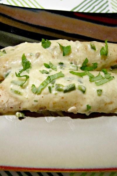 Steak Enchiladas with Jalapeno Cream Sauce