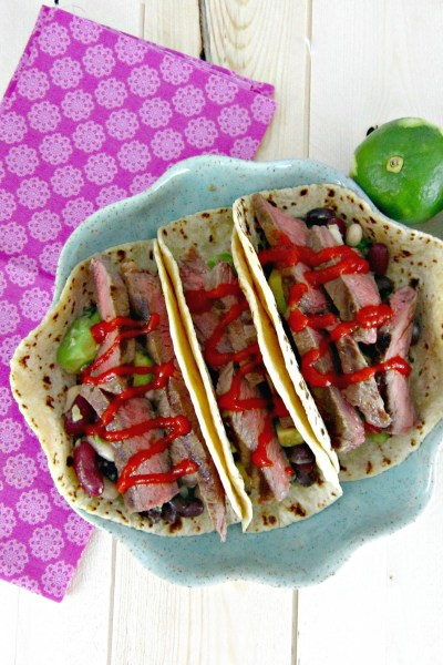 Taco Tuesday: Coconut Lime Steak Tacos with Sriracha
