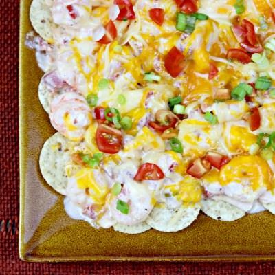 Queso Shrimp Dip Nachos