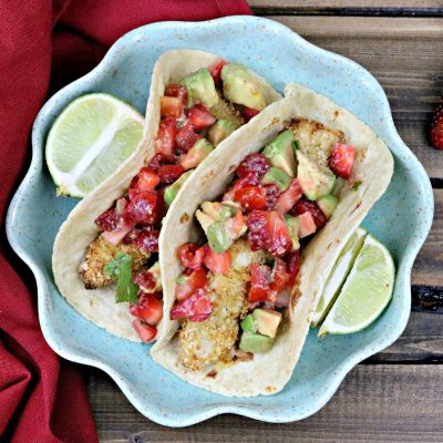 Taco Tuesday: Crispy Margarita Chicken Tacos with Strawberry-Avocado Salsa