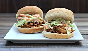 Sammich Saturday: Pulled Pork Sliders with Honey Mustard Slaw