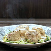 Creamy Pesto Turkey Meatballs