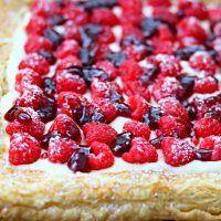 Raspberry Lemon Cheesecake Tart