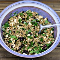 Farro Salad with Cranberries, Spinach, and Feta