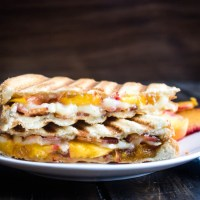 Bacon and Brie Panini with Peaches