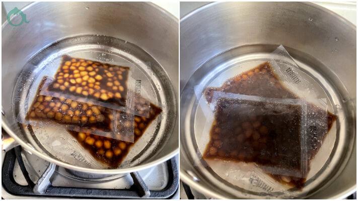 免煮黑糖珍珠加熱即可食用
