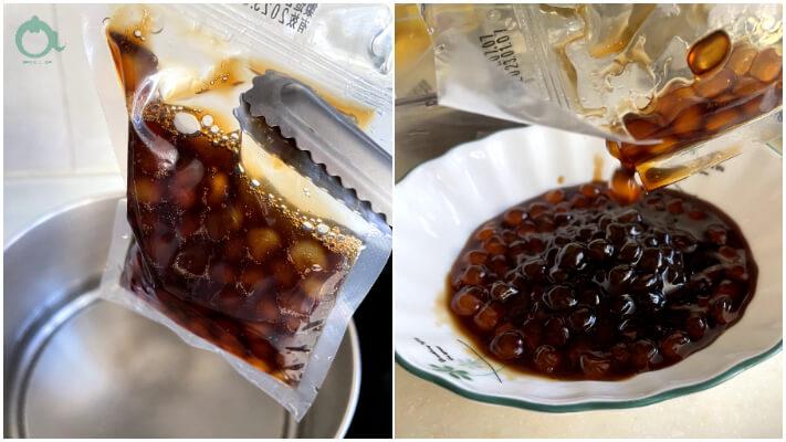 自然小島的黑糖珍珠,非常方便,不用煮