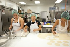 left to right: Lily Bender, Chef JJ Leng, Kelly Teramoto
