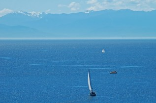 San Juan Island's Glistening Waters, Mountains & Sailboats