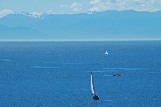San Juan Island's Glistening Waters, Mountains & Sailboats