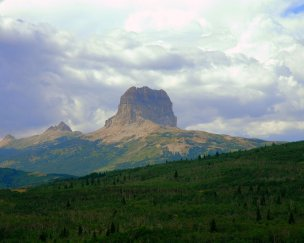 Chief Mountian with Pastel Clouds