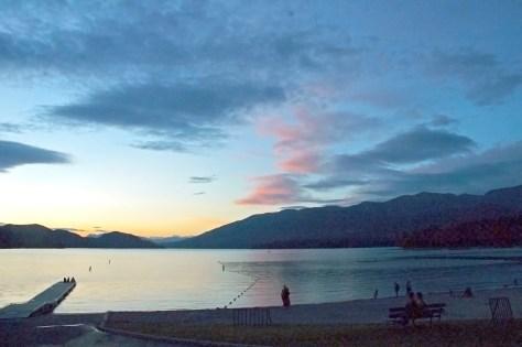 Sunset, Whitefish Lake, City Beach