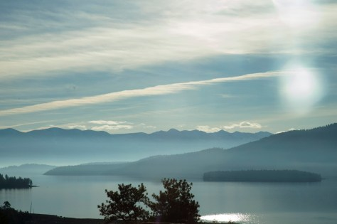 Flathead Lake, February, Islands, Blues