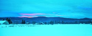 January Sunset2, Snow, Pasture View
