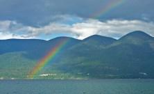 Rainbow, Mountains, Rainbow
