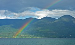 Rainbow, Mountains, Rainbow