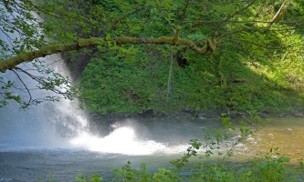 Close Up of Bottom of Falls, Columbia River Gorge