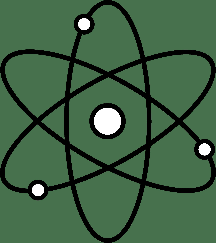 Atom Symbol Line Art