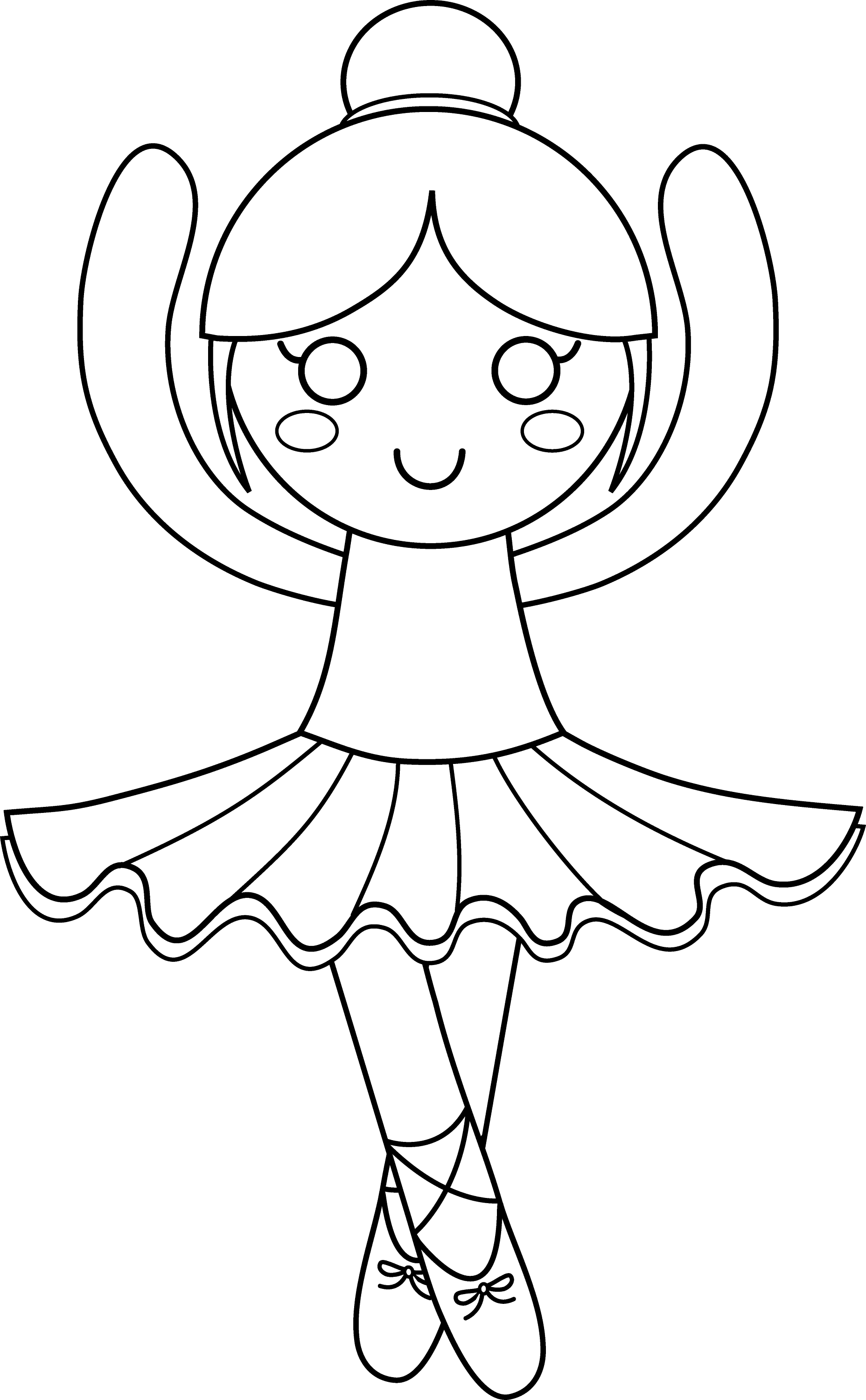 Cute Ballerina Coloring Page