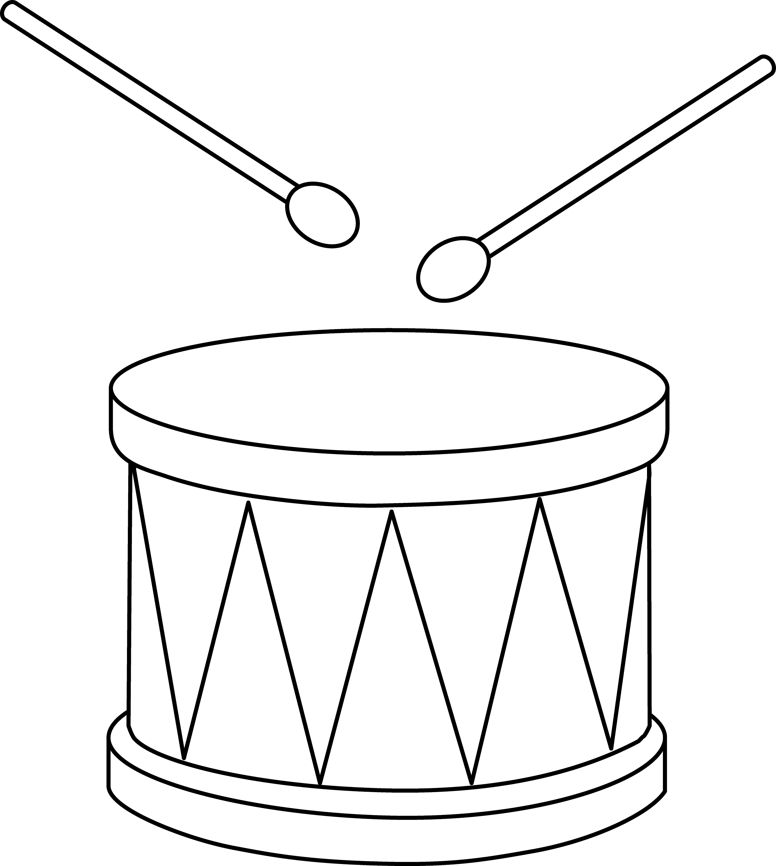 Colorable Marching Drum
