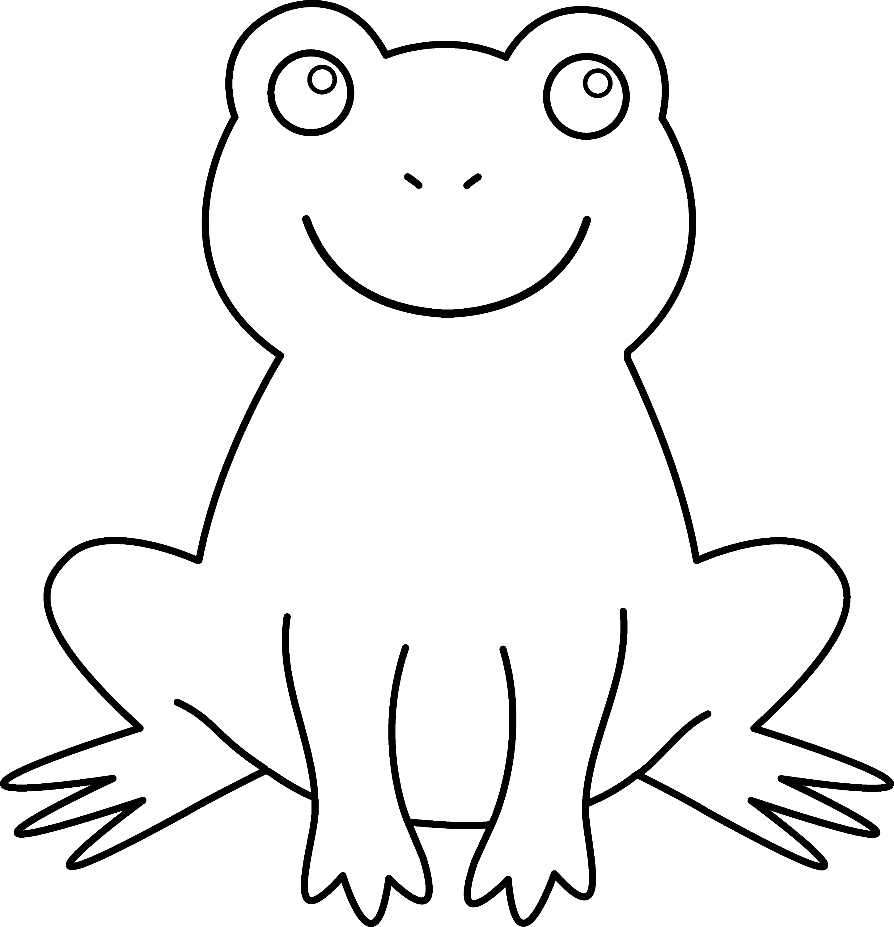 Colorable Cute Frog