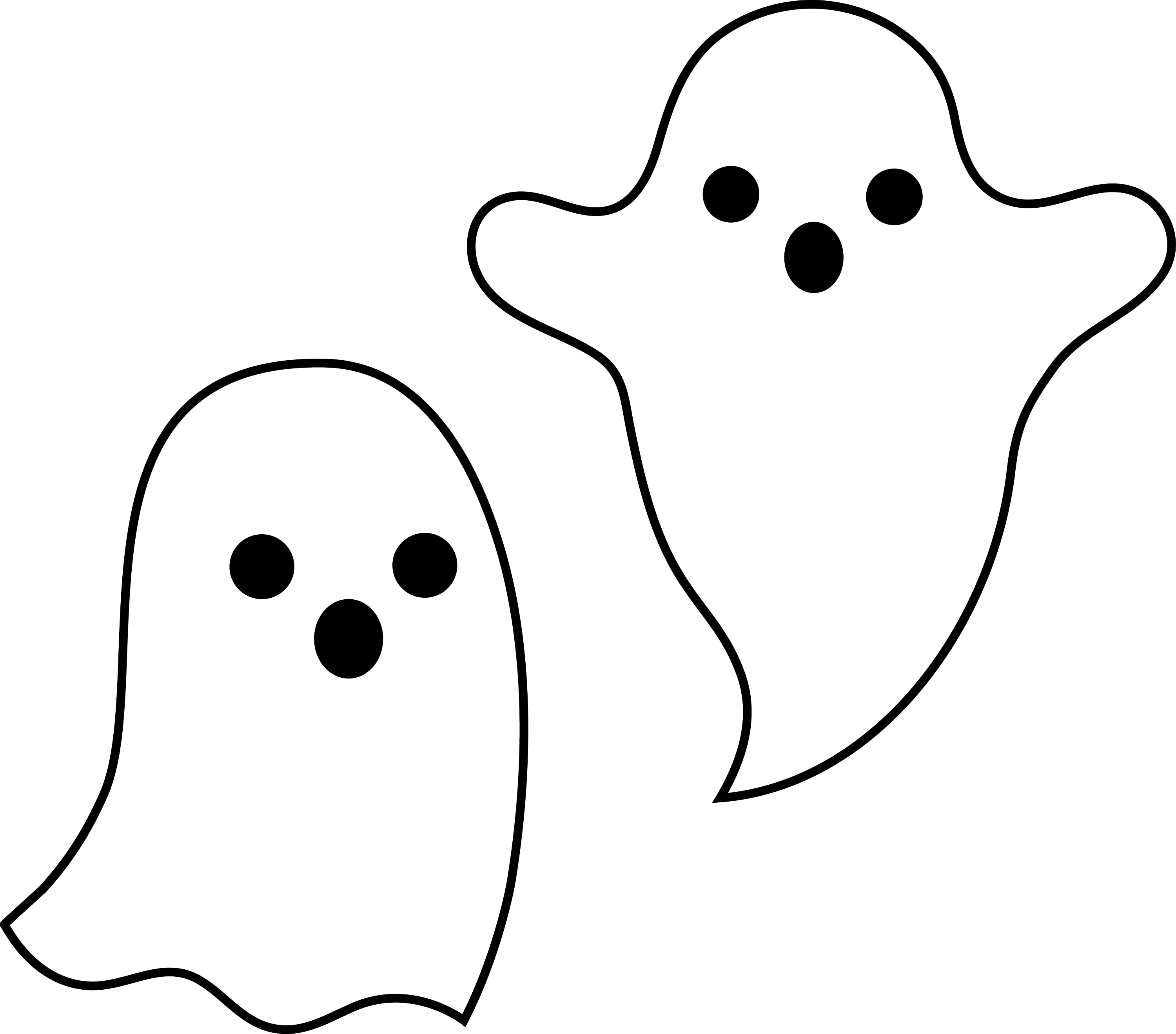 Simple Spooky Halloween Ghosts