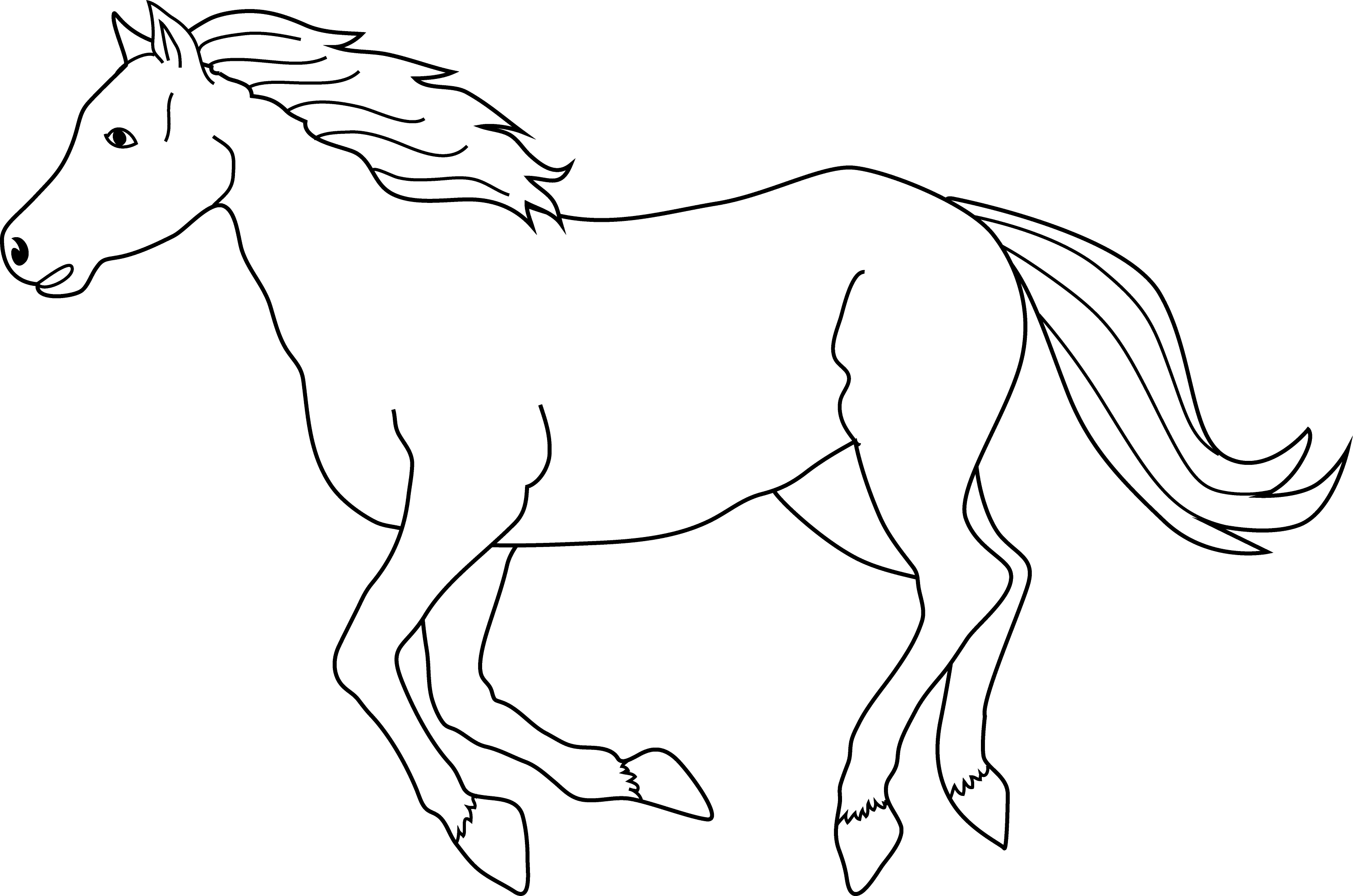 Galloping Horse Coloring Page
