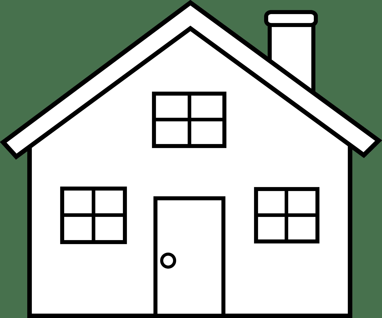 Little House Line Art